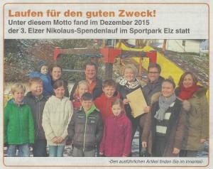 Nikolaus-Spendenlauf